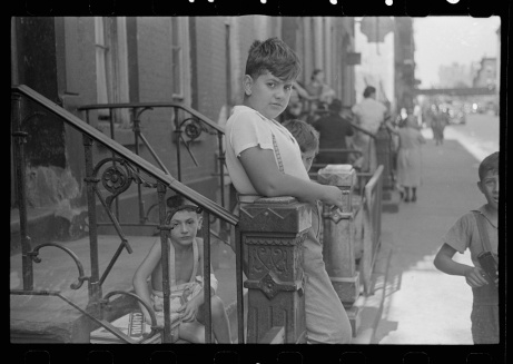 New York, New York. 61st Street between 1st and 3rd Avenues. Children playing in the street.  Library of Congress, Prints & Photographs Division, FSA/OWI Collection, LC-USF3301-006714-M1