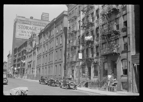 New York, New York. 61st Street between 1st and 3rd Avenues. House fronts. Library of Congress, Prints & Photographs Division, FSA/OWI Collection, LC-USF3301-006714-M3 (b&w film dup. neg.)