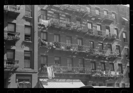 New York, New York. 61st Street between 1st and 3rd Avenues. House fronts. Library of Congress, Prints & Photographs Division, FSA/OWI Collection, LC-USF3301-006715-M5 (b&w film dup. neg.).