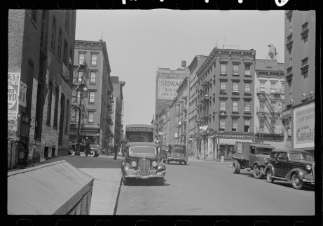 New York, New York. 61st Street between 1st and 3rd Avenues.  Library of Congress, Prints & Photographs Division, FSA/OWI Collection, LC-USF3301-006717-M1 (b&w film dup. neg.)
