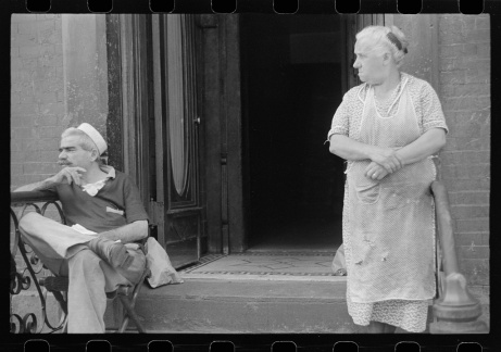New York, New York. 61st Street between 1st and 3rd Avenues. Tenants.  Library of Congress, Prints & Photographs Division, FSA/OWI Collection, LC-USF3301-006718-M4 (b&w film dup. neg.)