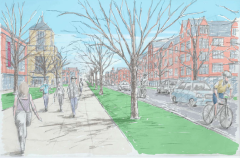 Commonwealth Avenue re-designed, according to Campus Master Plan