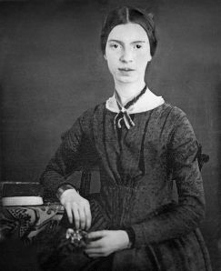 Emily Dickinson, c. 1848.  Original daguerrotype at Amherst College