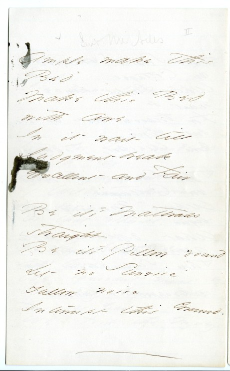 """Ample make this Bed,"" (Fr804), from Emily Dickinson Archive."