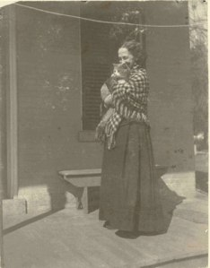 Lavinia Dickinson, with one of her beloved cats