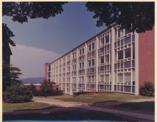 Bartlett Hall from the south. Special Collections and Archives, W.E.B. Du Bois Library