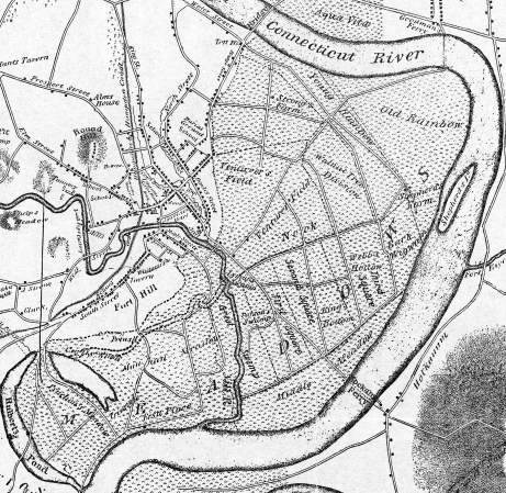 Figure 18 plan of the town detail