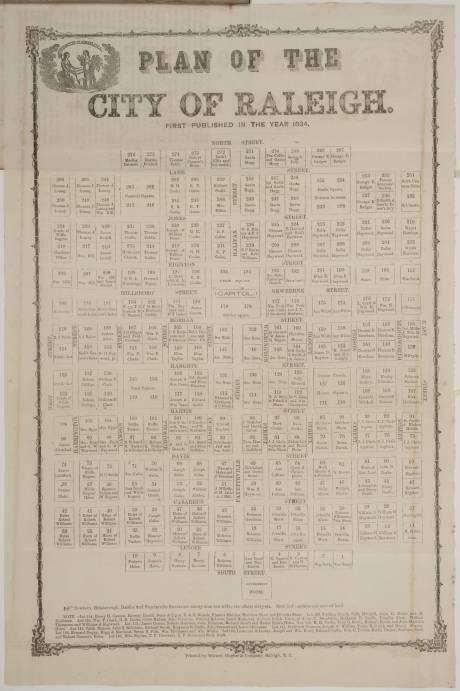 1834 Plan of Raleigh