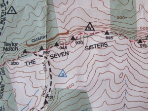 Detail from Christopher J. Ryan, map of Holyoke Range State Park, western section (2001)