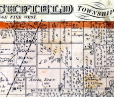 1874 Brink, McCormick Atlas of Montgomery County, Illinois: North Litchfield Township