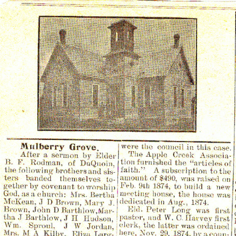 Mulberry Grove Baptist Church, Mulberry, Illinois