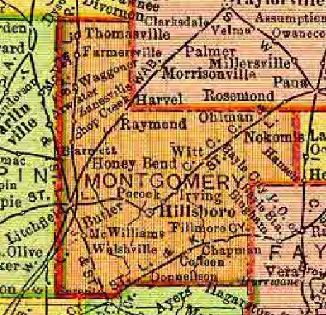 1895 Rand, McNally map of Illinois (detail)
