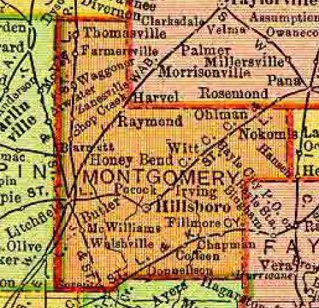 1895 Rand, McNally map of Illinois (detail)